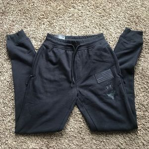 NWT UA Under Armour Project Rock Black Joggers sm